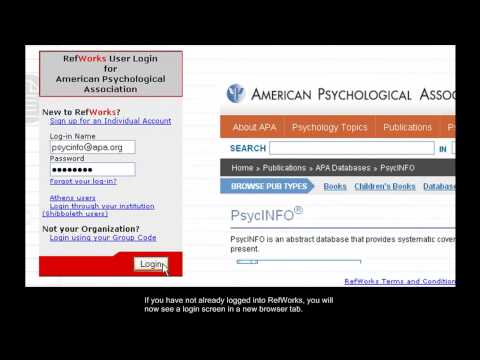 APA PsycNET: How to Export Citations to RefWorks and Other Reference Management Software