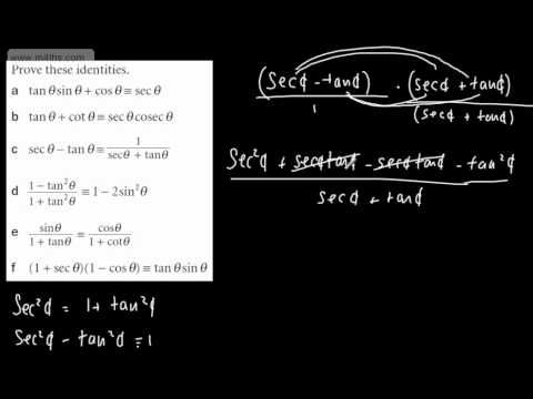 (7) Core 3 Trig - Proving identities (1)