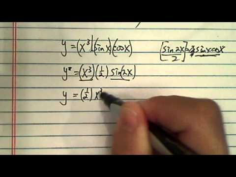 Find the derivative of Y=x^3sinxcosx?