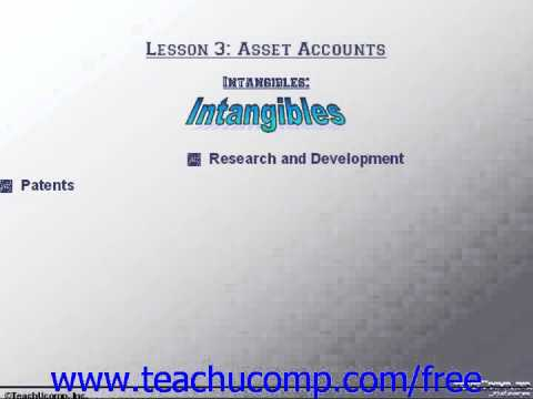 Accounting Tutorial Intangibles Training Lesson 3.8