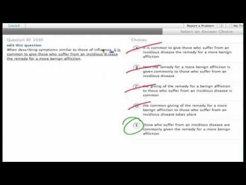 Grockit SAT Writing - Improving Sentences: Question 2030