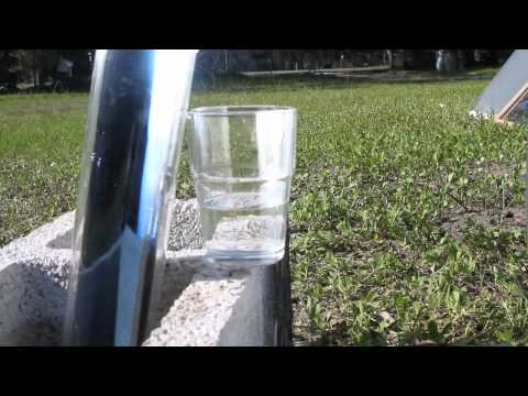 SOLAR DISTILLING simple quick design Distilled Water HOMEMADE DIY STILL DISTILLER