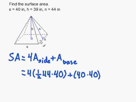 How to Find the Surface Area of a Regular Pyramid