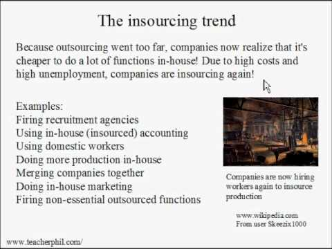 Business and Finance Lesson 24: Outsourcing vs Insourcing (Learn English)