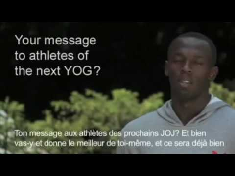 Bolt's message for the Youth Olympic Games