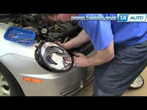 How To Install Replace Headlight Dodge Plymouth Neon 2003-05 1AAuto.com
