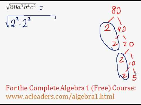 (Algebra 1) Radicals - Simplifying Radicals #14
