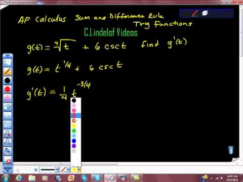 AP Calculus Sum and Difference Rule Trigonometric Functions