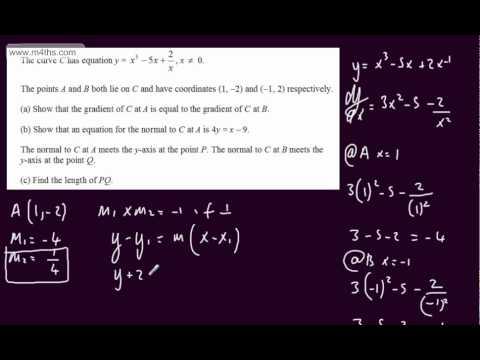 (Q10) Core 1 Specimen Edexcel Paper