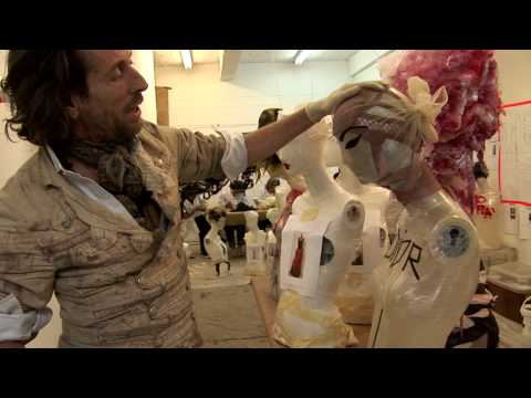 Behind the Scenes: Julien d'Ys Creates Heads and Wigs for The Model as Muse