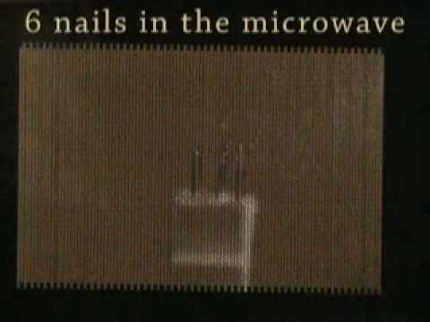 6 Nails Inside A Microwave EXPLOSION  FIRE
