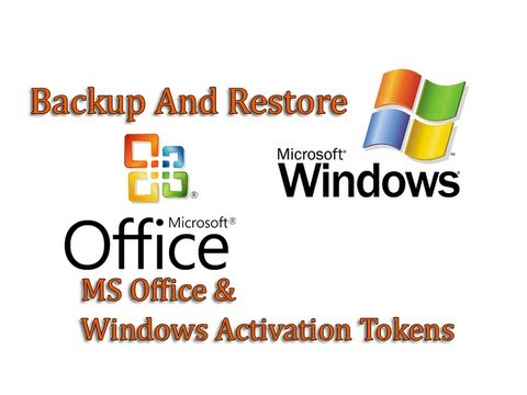 Backup and Restore Windows and Office Activation Token by Britec