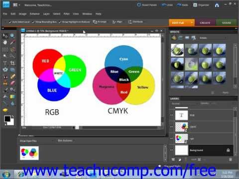 Photoshop Elements 9.0 Tutorial Color Modes & Models Adobe Training Lesson 5.1