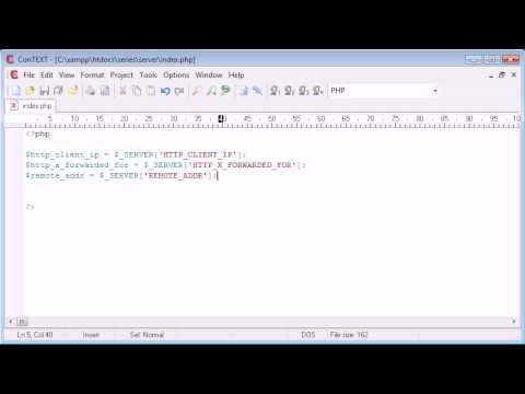 Beginner PHP Tutorial - 66 - Better Way to Get Visitors IP Address