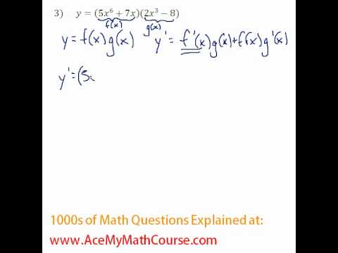 Derivatives - Product & Quotient Rule Question #3