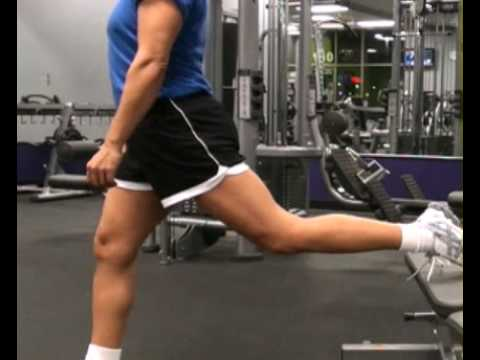 Lunges, Single Leg on Bench