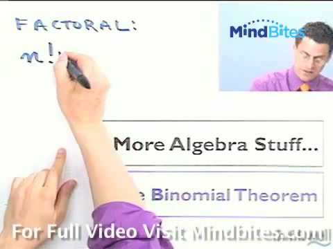 College Algebra: Binomial Coefficients