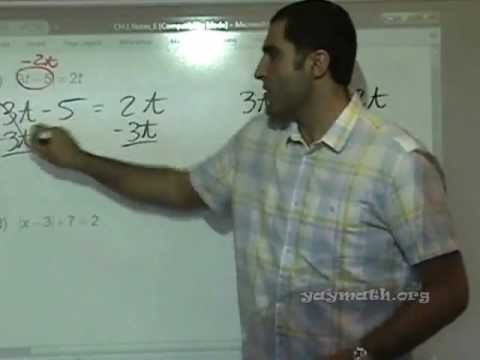 Algebra - Absolute Value Equations