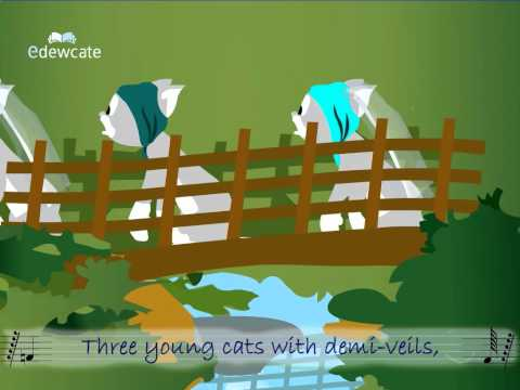 English Nursery Rhyme for Kids - Three Young Rats