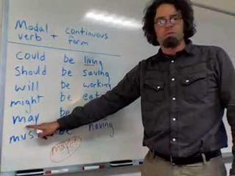 Modal Verb + Continuous Form