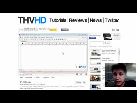 The THVHD Channel - PHP Coding, Video Editing, Programming