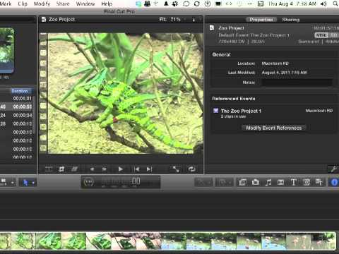 Apple Final Cut Pro X Tutorial -  How to Modify Project Properties