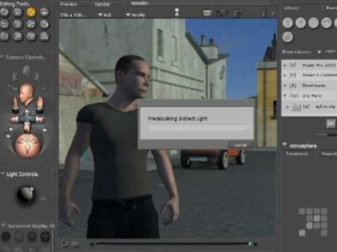 Poser - Creating Atmosperic Effects  - Poser 8 - Poser Pro 2010 Tutorial
