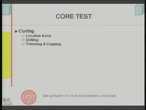 Module 6 Lecture - 6 Strength of Concrete : Non Destructive