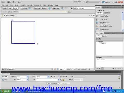 Dreamweaver CS5 Tutorial About AP Divs Adobe Training Lesson 9.5