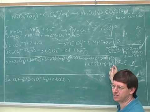 Chemistry: Balancing redox reactions (10)
