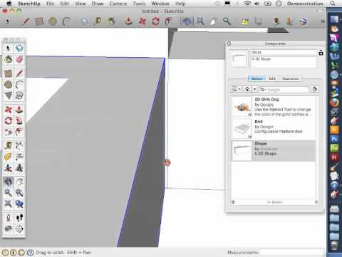 Sketch-Up Basics 8: How to add components to a model