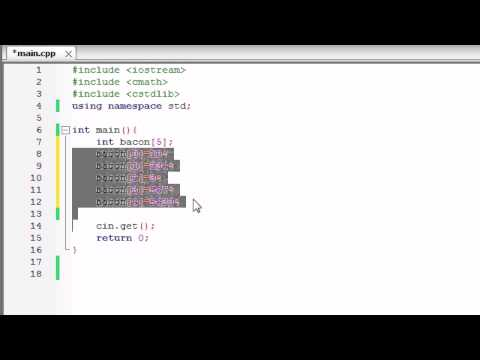 C++ Programming Tutorial - 11 - More on Building Arrays