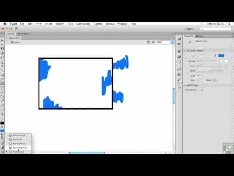 Flash CS6 Tutorial | Understanding the Brush Tool Modes | InfiniteSkills