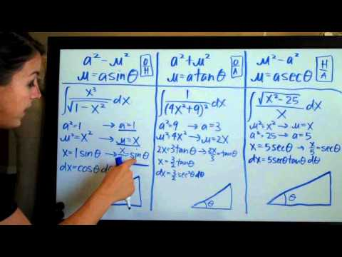 Setting Up Trigonometric Substitution