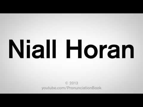 How to Pronounce Niall Horan