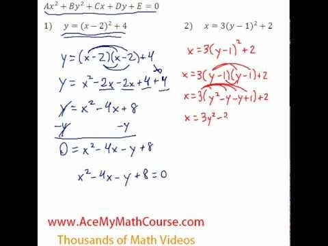 Conics - Standard to General Question #2