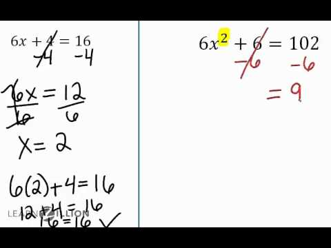 Solve a quadratic by taking a square root - A-REI.4