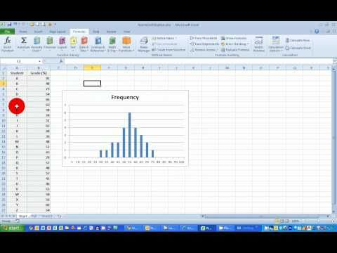 How To...Plot a Normal Frequency Distribution Histogram in Excel 2010