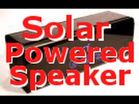 Awesome Solar Powered Speaker Review! - DevoTec Solar Sound 2