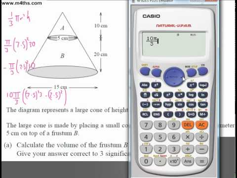 (Q227) A Star GCSE Revision Questions Frustum and cone
