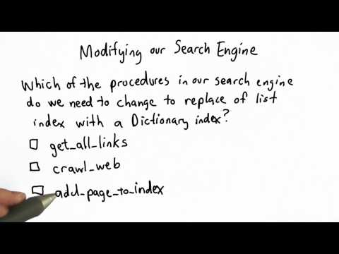 Modifying The Search Engine - CS101 - Udacity