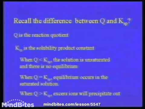 College Chemistry 2-Solubility Product-Complex Ions 2