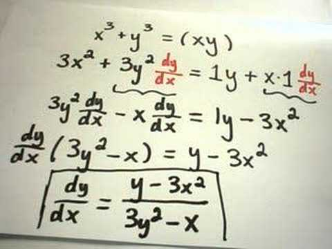 More Implicit Differentiation Examples - 3