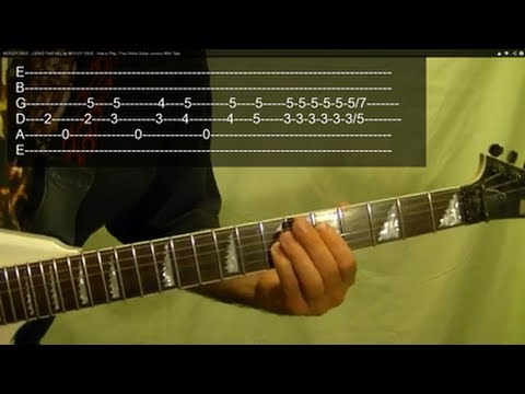 LOOKS THAT KILL ( Guitar Lesson ) by MOTLEY CRUE With Tabs