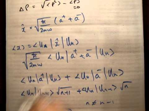 Zero point energy using ladder operators QM LHO