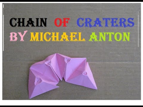 Origami Chain Of Craters by Michael Anton