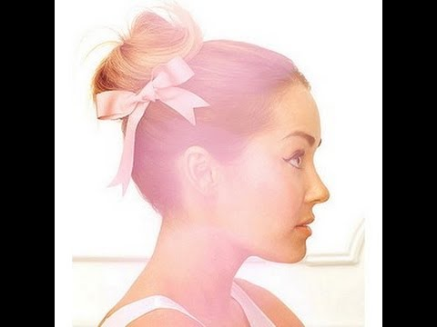 Ballerina Bun With A Bow ~ Lauren Conrad Inspired Hairstyle