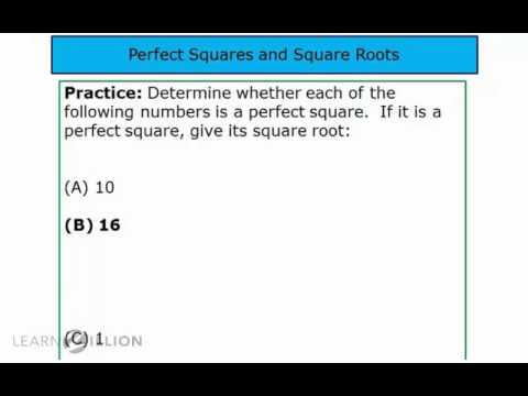 Identify perfect squares and find square roots - 8.EE.2