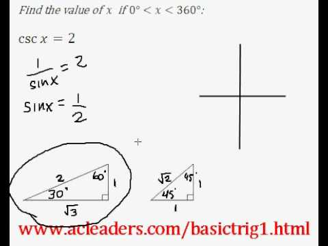 Basic Trig - Simple trig equation (solving for 'x') - EASY Solution!!!!! (Pt.7)