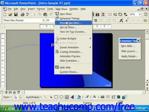 PowerPoint 2003 Tutorial Using Two Screens 97 Microsoft Training Lesson 25.4